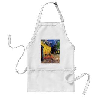 Van Gogh, terraço do café na noite, belas artes do Avental