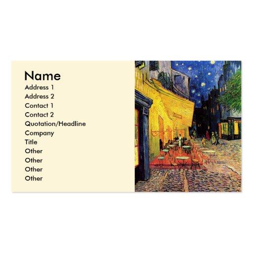 Van Gogh; Terraço do café na noite, belas artes do Cartões De Visitas