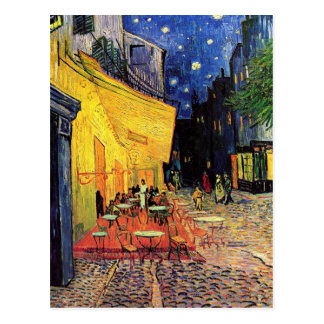 Van Gogh, terraço do café na noite, belas artes do Cartao Postal