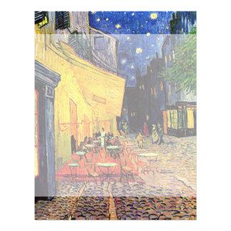 Van Gogh, terraço do café na noite, belas artes do Panfleto Personalizado