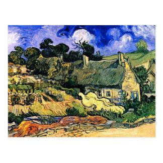 Van Gogh Thatched o vintage fino de Cordeville das Cartões Postais