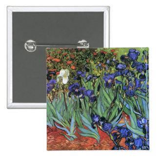 Van Gogh torna iridescentes belas artes do vintage Bóton Quadrado 5.08cm