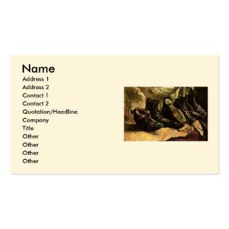 Van Gogh; Três pares de sapatos, do vintage vida Cartão De Visita