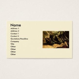 Van Gogh; Três pares de sapatos, do vintage vida Cartão De Visitas