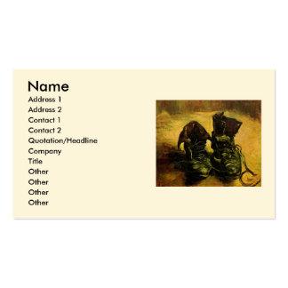 Van Gogh um o par de sapatos, do vintage arte da v Cartao De Visita
