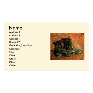 Van Gogh, um par de sapatos, do vintage vida ainda Cartão De Visita