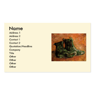 Van Gogh, um par de sapatos, do vintage vida ainda Cartao De Visita