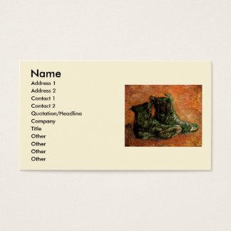 Van Gogh, um par de sapatos, do vintage vida ainda Cartão De Visitas
