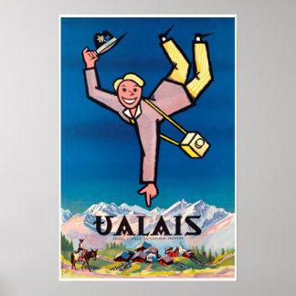 Vancôver, suiça, Suisse, poster do esqui