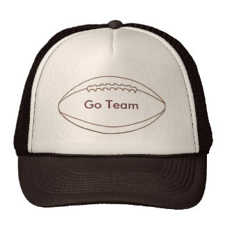 Vão os chapéus do futebol do esboço da equipe bones