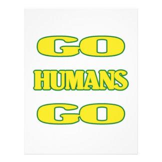Vão os seres humanos vão (verde/ouro) panfletos personalizado