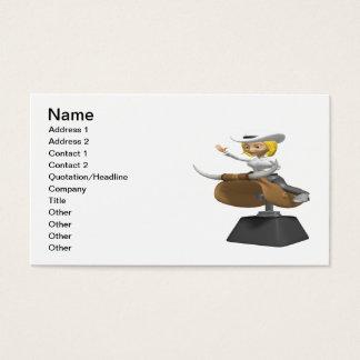 Vaqueira em Bull mecânica Cartão De Visitas