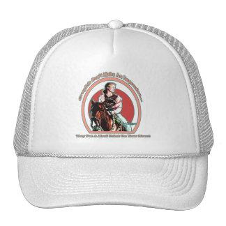 Vaqueira em seu chapéu MLB do coração Boné