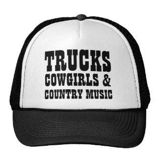 Vaqueiras e música country dos caminhões boné