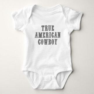 Vaqueiro americano verdadeiro body para bebê