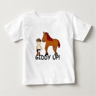 Vaqueiro ascendente vertiginoso bonito do bebê do camiseta para bebê