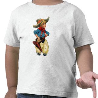 Vaqueiro bonito do vintage tshirt