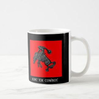 Vaqueiro Bucking .jpg do cavalo de Texas Caneca De Café