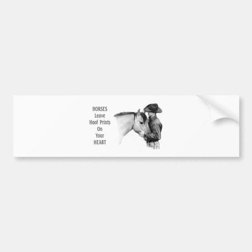 Vaqueiro: Cavalos: Impressões do casco: Desenho de Adesivos