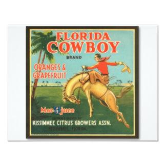 Vaqueiro de Florida Convite 10.79 X 13.97cm