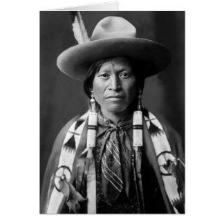 Vaqueiro de Jicarilla Apache Cartão Comemorativo