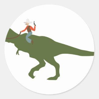 Vaqueiro do dinossauro adesivo