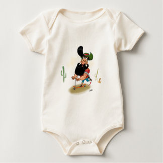 Vaqueiro do hipster body para bebê