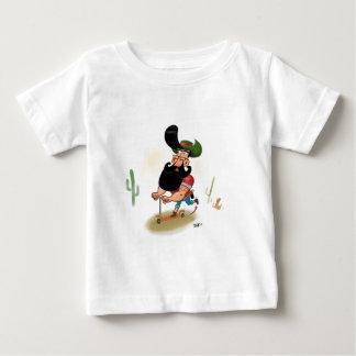 Vaqueiro do hipster camiseta para bebê