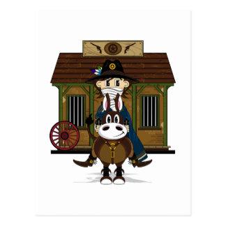 Vaqueiro do Jailhouse no cartão do cavalo
