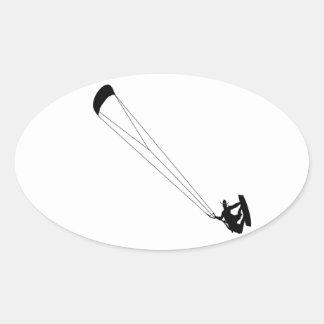 Vaqueiro surfando do papagaio adesivo oval