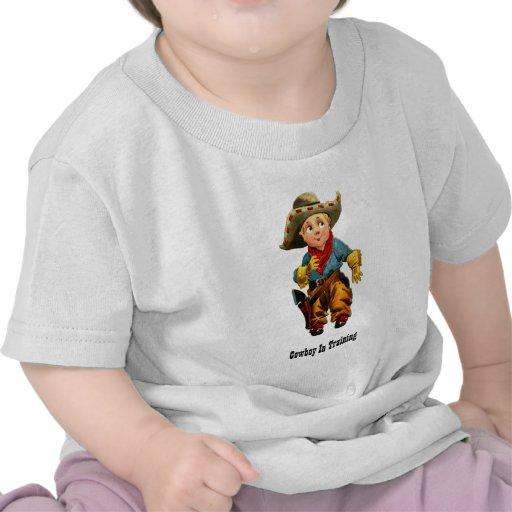 """""""Vaqueiro t-shirt infantil no treinamento"""""""