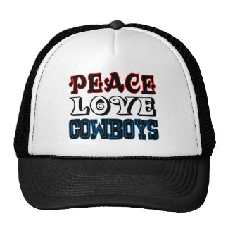 Vaqueiros do amor da paz boné