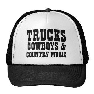 Vaqueiros e música country dos caminhões boné