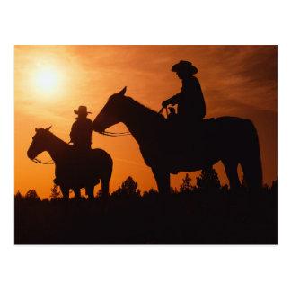 vaqueiros no cartão dos cavalos