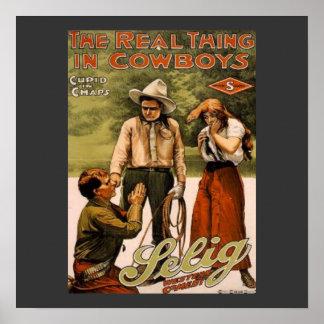 Vaqueiros o poster do impressão da arte do autênti