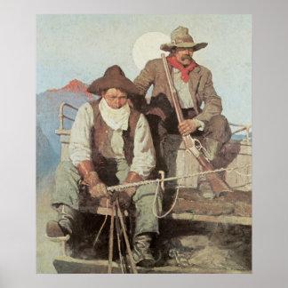 Vaqueiros o poster do impressão da arte do Stageco