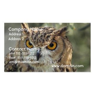 Vara da coruja modelos cartão de visita