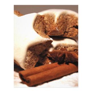 Varas de canela e biscoitos da estrela panfleto personalizados