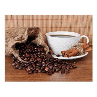 Varas do café e de canela cartão postal