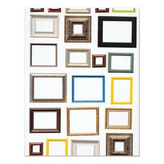 Várias molduras para retrato coloridas convite 10.79 x 13.97cm