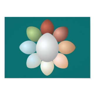 Variedade dos ovos convite 12.7 x 17.78cm