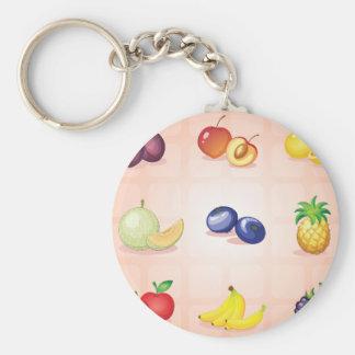 Vário chaveiro das frutas