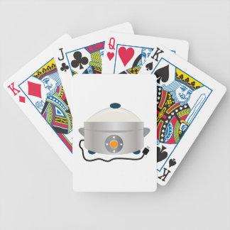 Vasilha de barro elétrica baralhos para poker