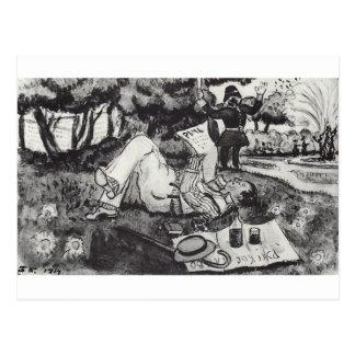 Vasiliy Luzhsky em férias no Hyde Park de Londres Cartão Postal