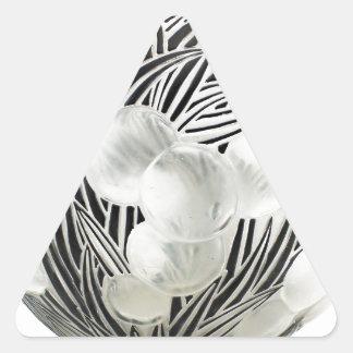 Vaso claro do art deco com projeto preto gravado adesivo triangular