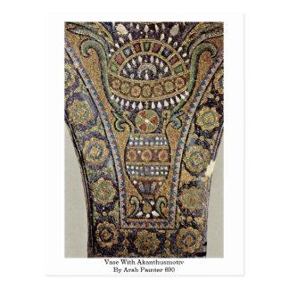 Vaso com o Akanthusmotiv pelo pintor árabe 690 Cartões Postais