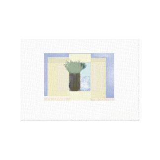 Vaso da janela impressão em tela