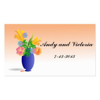 Vaso de cartões de agradecimentos das flores cartão de visita
