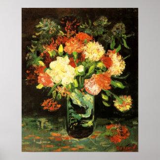 Vaso de Van Gogh com cravos Impressão