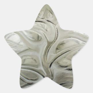 Vaso de vidro do art deco claro com projeto da adesito estrela